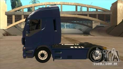 Iveco Stralis HI-WAY para GTA San Andreas traseira esquerda vista