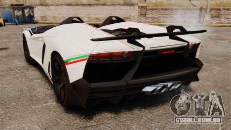 Lamborghini Aventador J 2012 Tricolore para GTA 4 vista direita