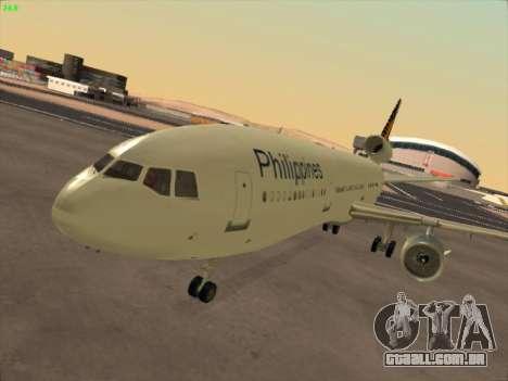 McDonell Douglas DC-10 Philippines Airlines para GTA San Andreas esquerda vista