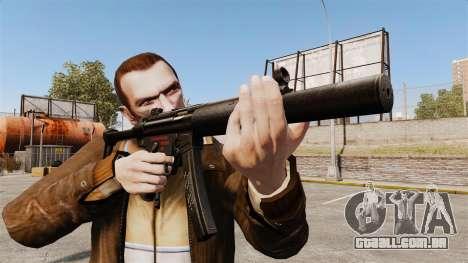 Pistola-metralhadora MP5SD V6 para GTA 4 terceira tela