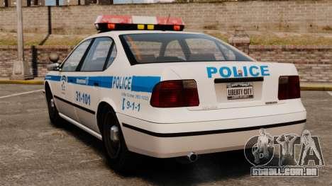Montreal Polícia v2 para GTA 4 traseira esquerda vista