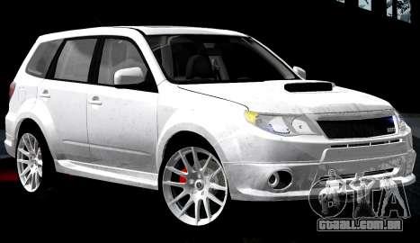 Subaru Forester RRT Sport 2008 v2.0 para GTA San Andreas interior