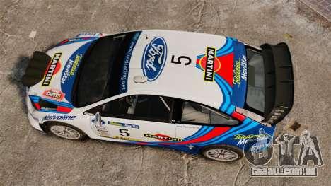 Ford Focus RS Martini WRC para GTA 4 vista direita