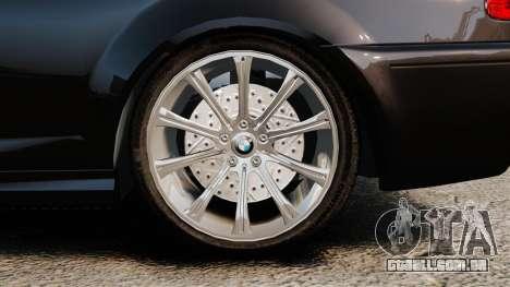 BMW M3 Coupe E46 para GTA 4 vista de volta