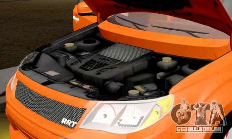 Subaru Forester RRT Sport 2008 v2.0 para GTA San Andreas vista interior