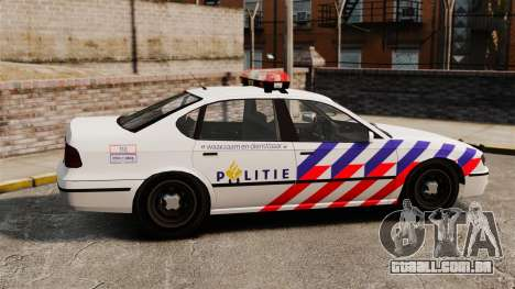 Polícia holandesa para GTA 4 esquerda vista