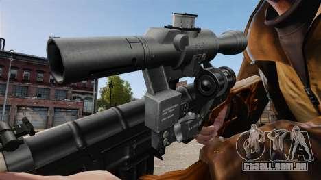 Dragunov sniper rifle v4 para GTA 4 por diante tela