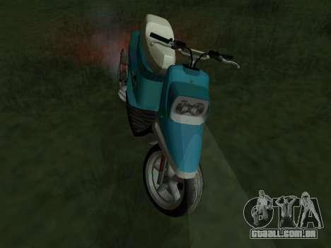 MBK Booster Spirit para GTA San Andreas traseira esquerda vista