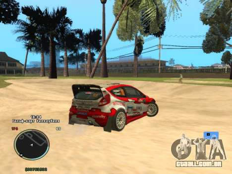 Ford Fiesta RS WRC para GTA San Andreas esquerda vista