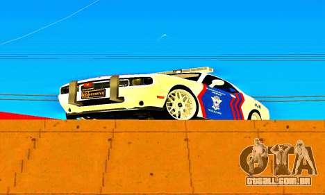 Dodge Challenger Indonesian Police para GTA San Andreas esquerda vista