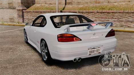 Nissan Silvia S15 v1 para GTA 4 traseira esquerda vista