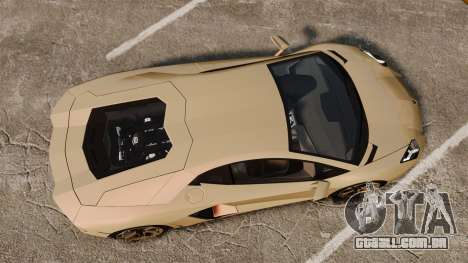 Lamborghini Aventador LP700-4 2012 v2.0 para GTA 4 vista direita