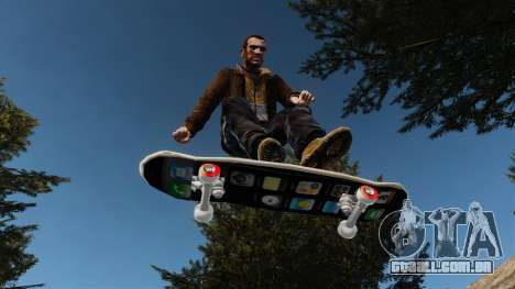 Skate iPhone para GTA 4 vista de volta