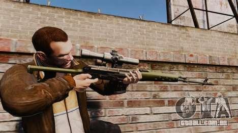Dragunov sniper rifle v3 para GTA 4