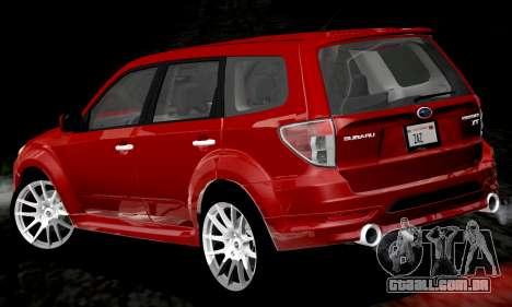 Subaru Forester RRT Sport 2008 v2.0 para GTA San Andreas vista inferior