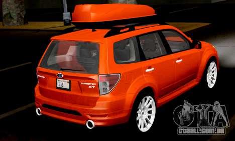 Subaru Forester RRT Sport 2008 v2.0 para GTA San Andreas vista direita