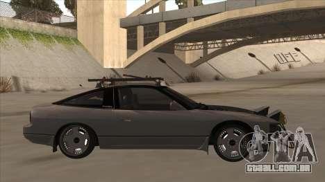 Nissan 240SX Rat para GTA San Andreas traseira esquerda vista