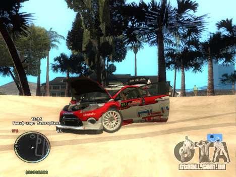 Ford Fiesta RS WRC para GTA San Andreas traseira esquerda vista