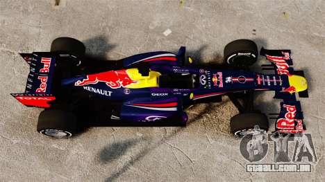 Carro, Red Bull RB9 v4 para GTA 4 vista direita