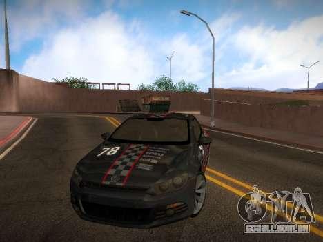 Volkswagen Scirocco para GTA San Andreas interior
