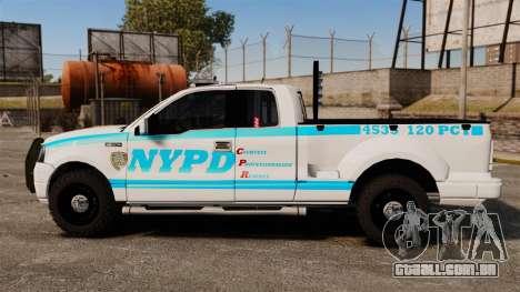 Ford F-150 v3.3 NYPD [ELS & EPM] v1 para GTA 4 esquerda vista