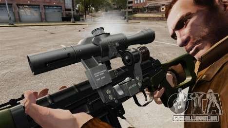 Dragunov sniper rifle v3 para GTA 4 por diante tela