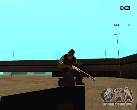 White Chrome Shotgun para GTA San Andreas segunda tela