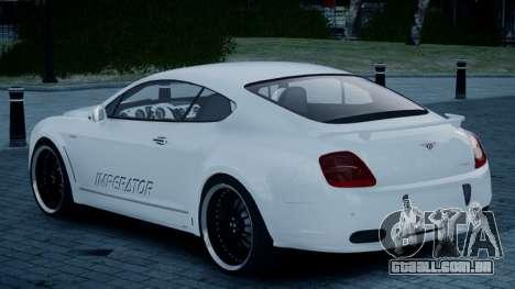 Bentley Continental GT Hamann Imperator para GTA 4 esquerda vista