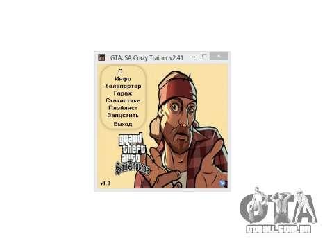 Crazy Trainer 350 v2.41 SA:MP para GTA San Andreas