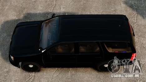 Chevrolet Tahoe 2008 Unmarked ELS para GTA 4 vista direita