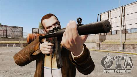 MP5SD metralhadora v2 para GTA 4 terceira tela