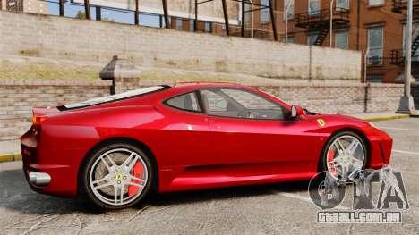 Ferrari F430 2005 para GTA 4 esquerda vista