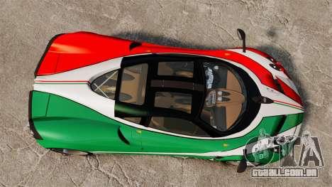 Pagani Huayra 2011 [EPM] Italian para GTA 4 vista de volta