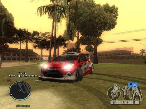 Ford Fiesta RS WRC para GTA San Andreas vista inferior