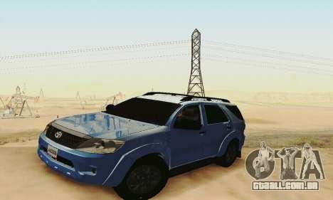 Toyota Fortuner Original 2013 para GTA San Andreas vista interior