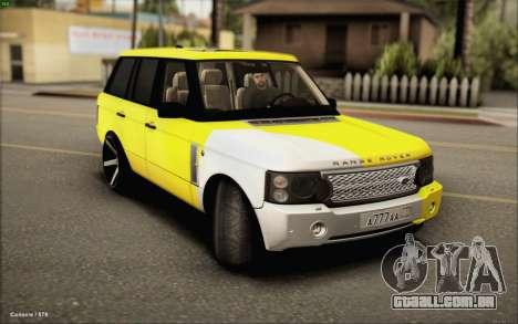 Land Rover Range Rover Gold Vossen para GTA San Andreas traseira esquerda vista