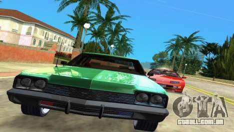 Dodge Monaco Police para GTA Vice City vista traseira esquerda