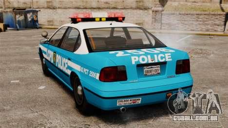 LCPD Police Patrol para GTA 4 traseira esquerda vista