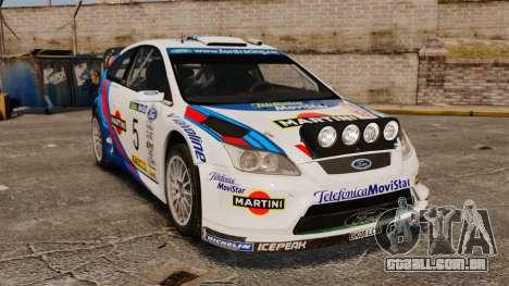 Ford Focus RS Martini WRC para GTA 4