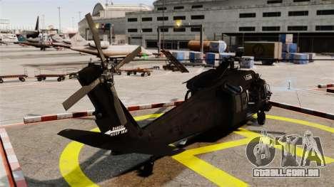 Sikorsky MH-60L Black Hawk para GTA 4 traseira esquerda vista