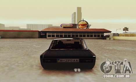 VAZ 2106 Zielonka para GTA San Andreas vista direita