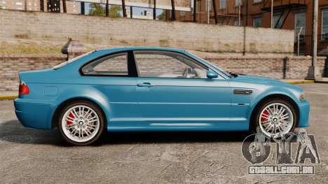 BMW M3 E46 para GTA 4 esquerda vista