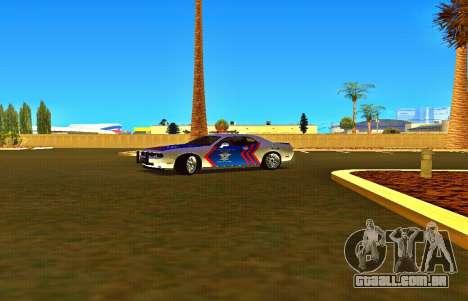 Dodge Challenger Indonesian Police para GTA San Andreas vista direita
