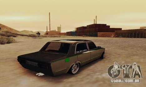 VAZ 2106 Zielonka para GTA San Andreas traseira esquerda vista