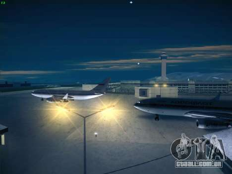 Real Airport 1.0 para GTA San Andreas por diante tela