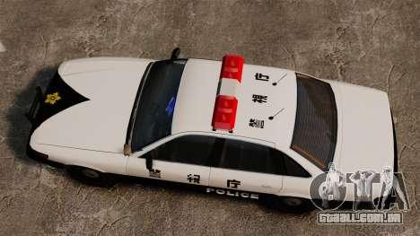 Polícia japonesa para GTA 4 vista direita