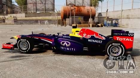 Carro, Red Bull RB9 v4 para GTA 4 esquerda vista