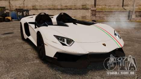 Lamborghini Aventador J 2012 Tricolore para GTA 4