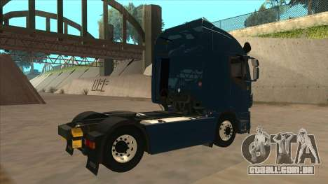 Iveco Stralis HI-WAY para GTA San Andreas vista traseira