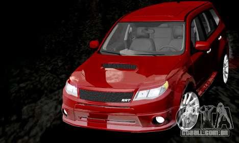 Subaru Forester RRT Sport 2008 v2.0 para GTA San Andreas vista superior